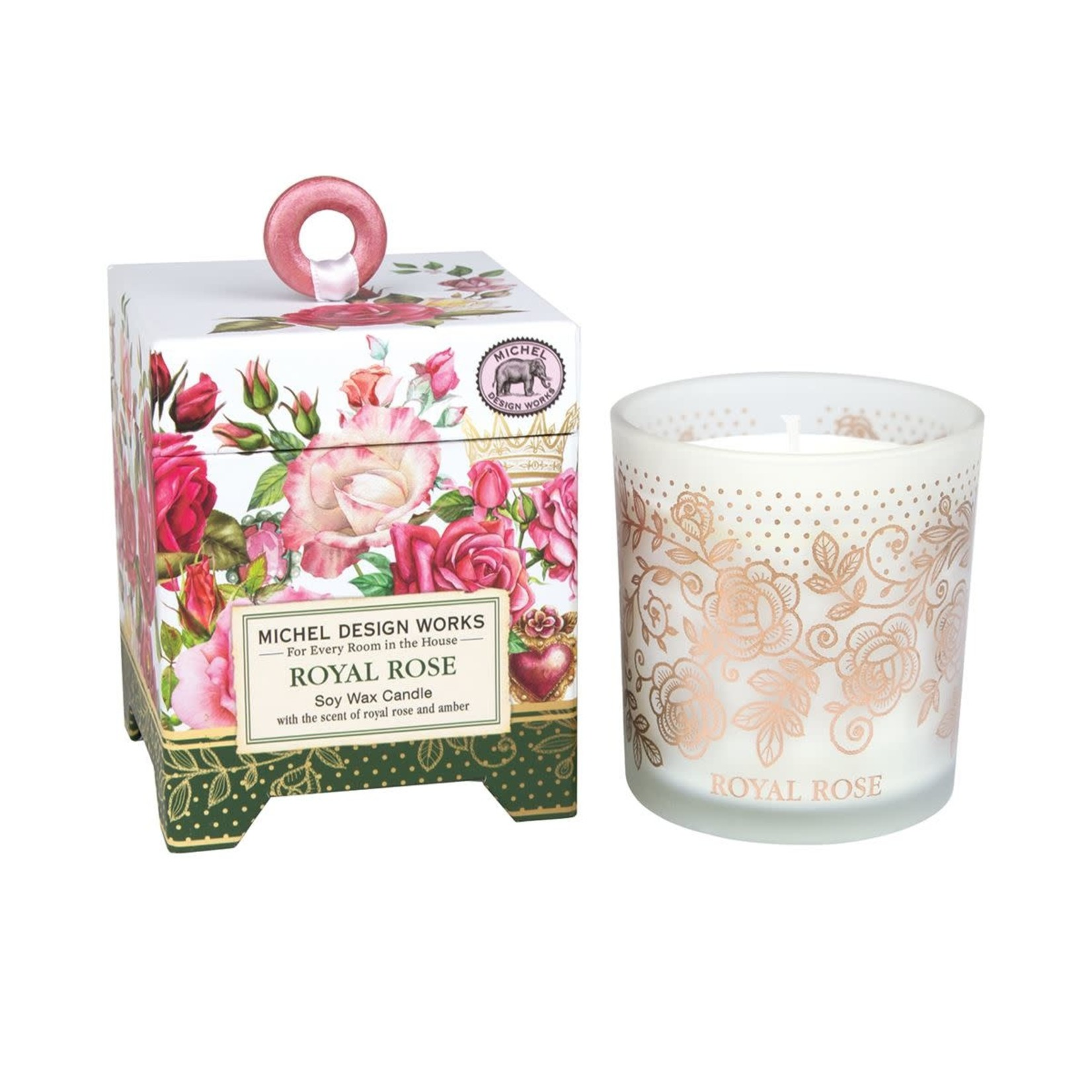 Michel Design Works Royal Rose 6.5 oz. Soy Wax Candle