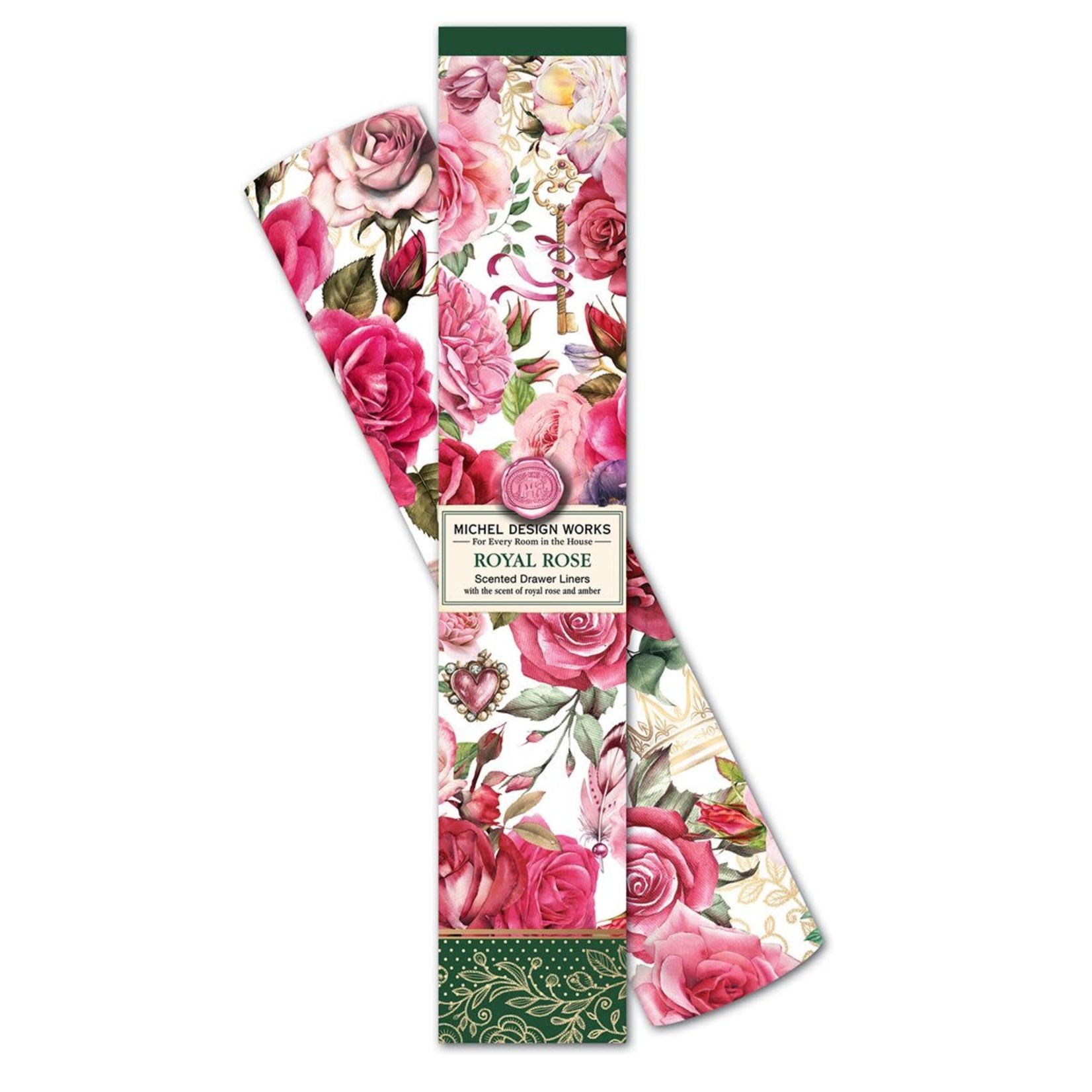 Michel Design Works Royal Rose Drawer Liner
