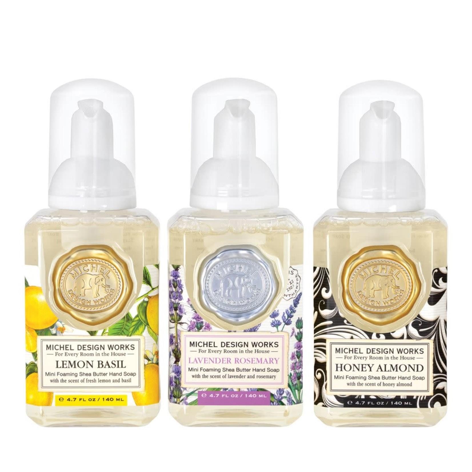 Michel Design Works Mini Foaming Soap Set : Lavender Rosemary, Lemon Basil, Honey Almond