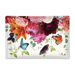 Michel Design Works Sweet Floral Melody Rectangular Glass Soap or Trinket Dish