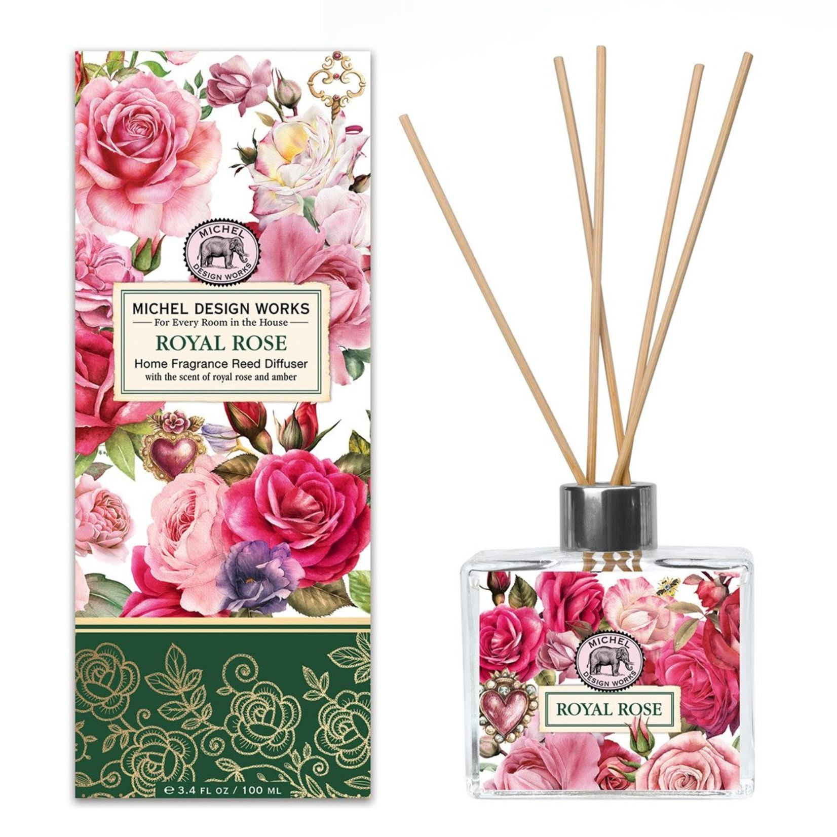 Michel Design Works Royal Rose Home Fragrance Reed Diffuser