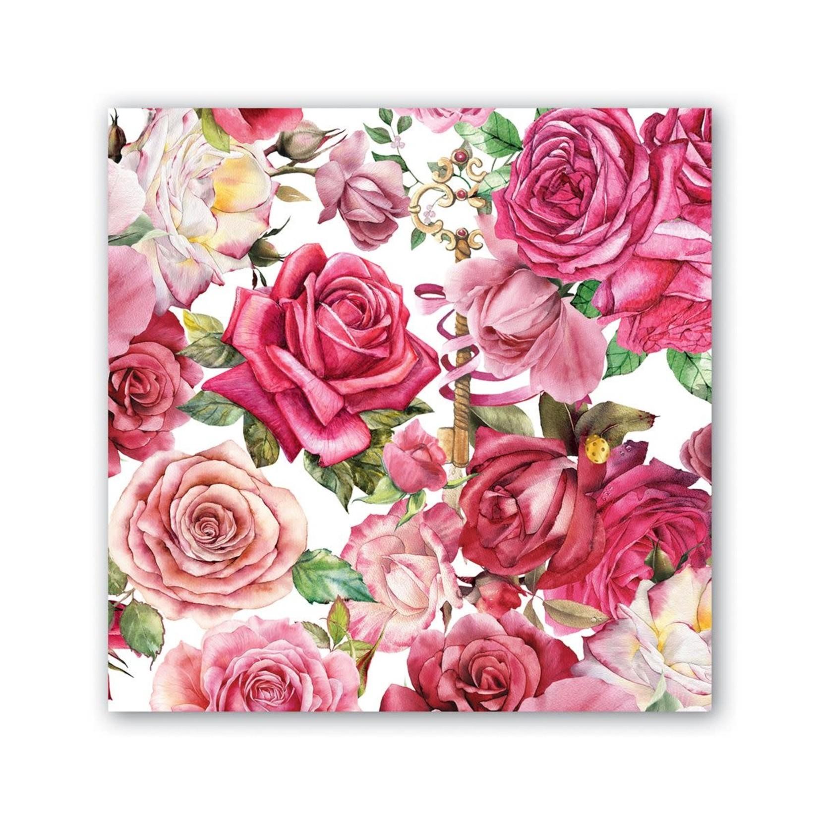 Michel Design Works Royal Rose Cocktail Napkin