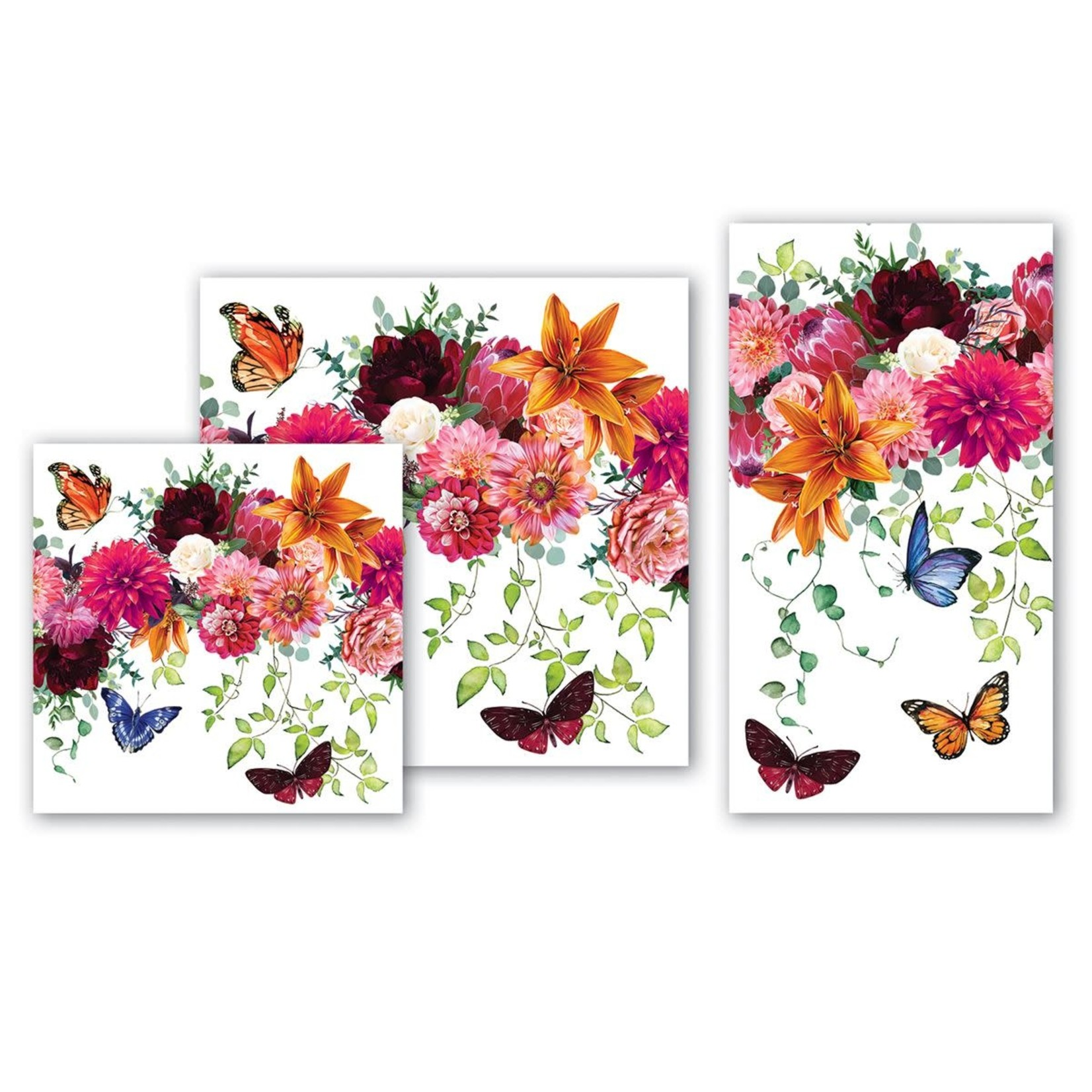 Michel Design Works Sweet Floral Melody Hostess Napkin