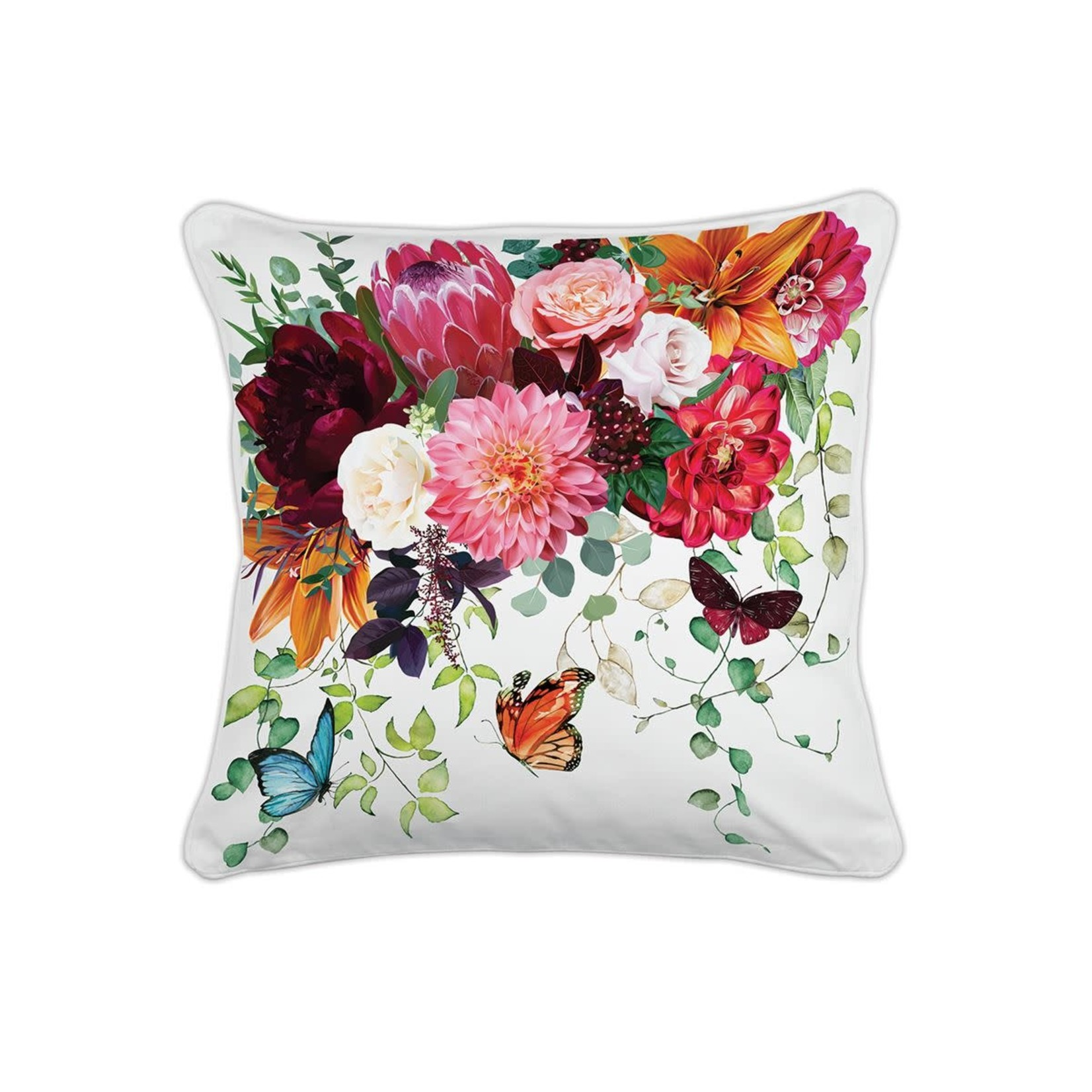 Michel Design Works Sweet Floral Melody Square Pillow
