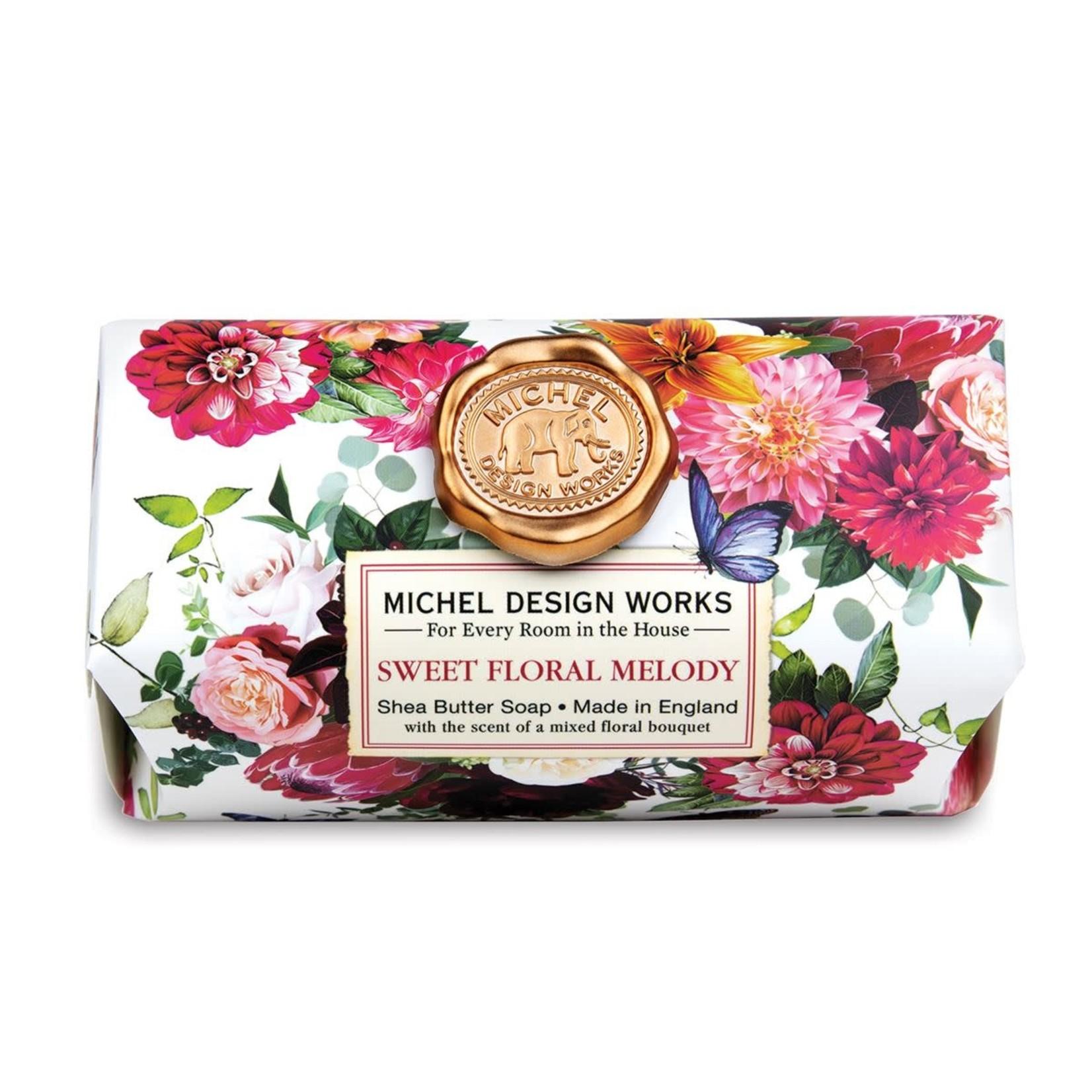 Michel Design Works Sweet Floral Melody Large Bath Soap Bar
