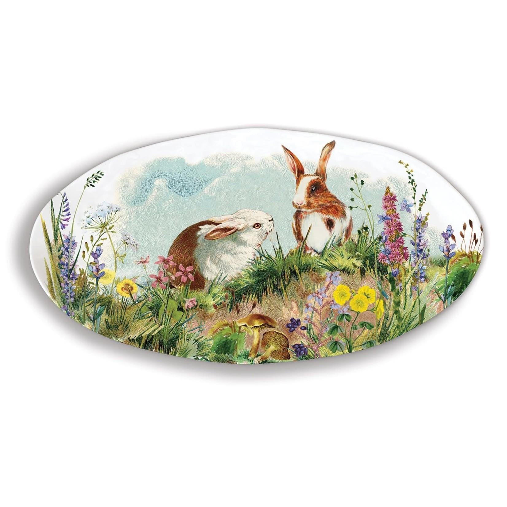 Michel Design Works Bunny Hollow Melamine Oval Platter