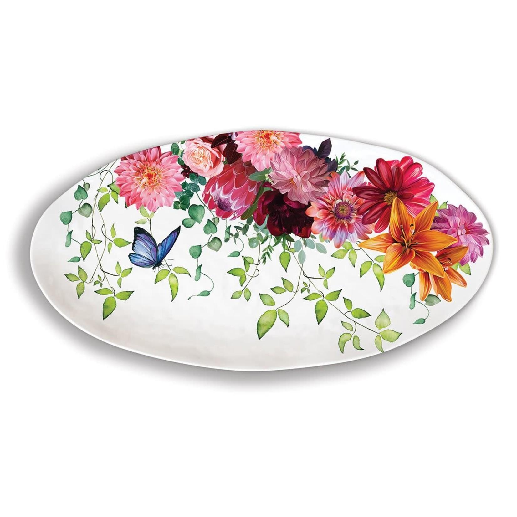 Michel Design Works Sweet Floral Melody Melamine Oval Platter