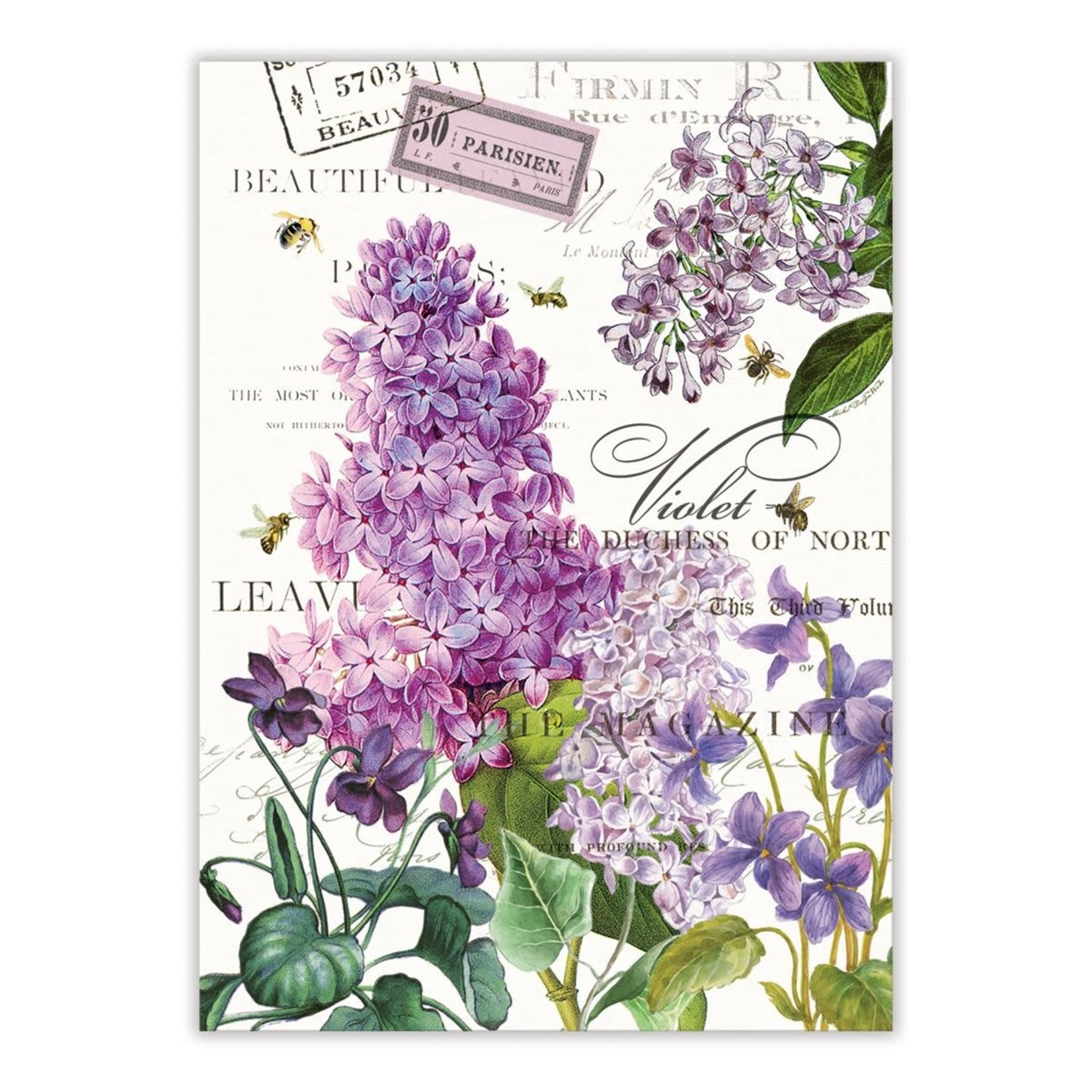 Michel Design Works Lilac and Violets Kitchen Towel