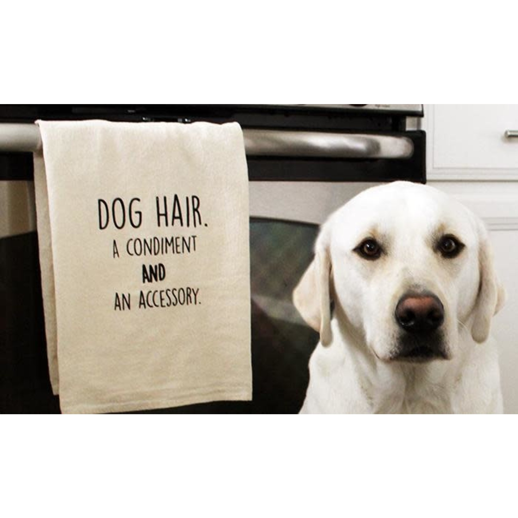 ellembee gift Dog Hair A Condiment And An Accessory Kitchen Tea Towels