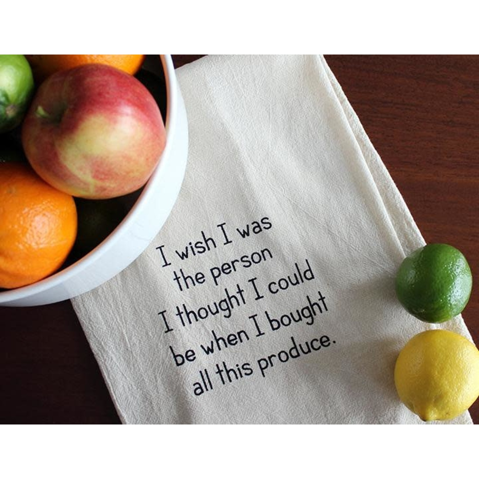 ellembee gift I Wish I Was the Person - Produce  Kitchen Tea Towel