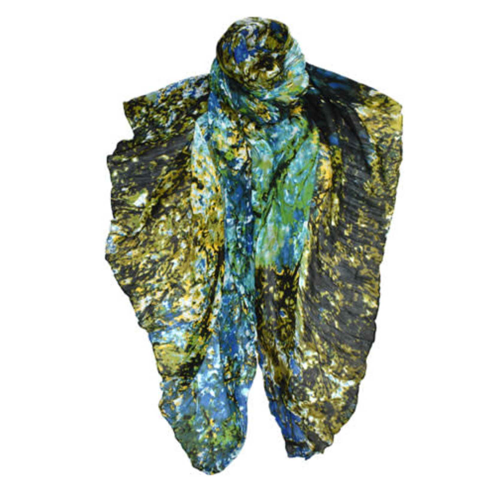 Hardaway Abstract Screen Viscose & Modal Print Scarf