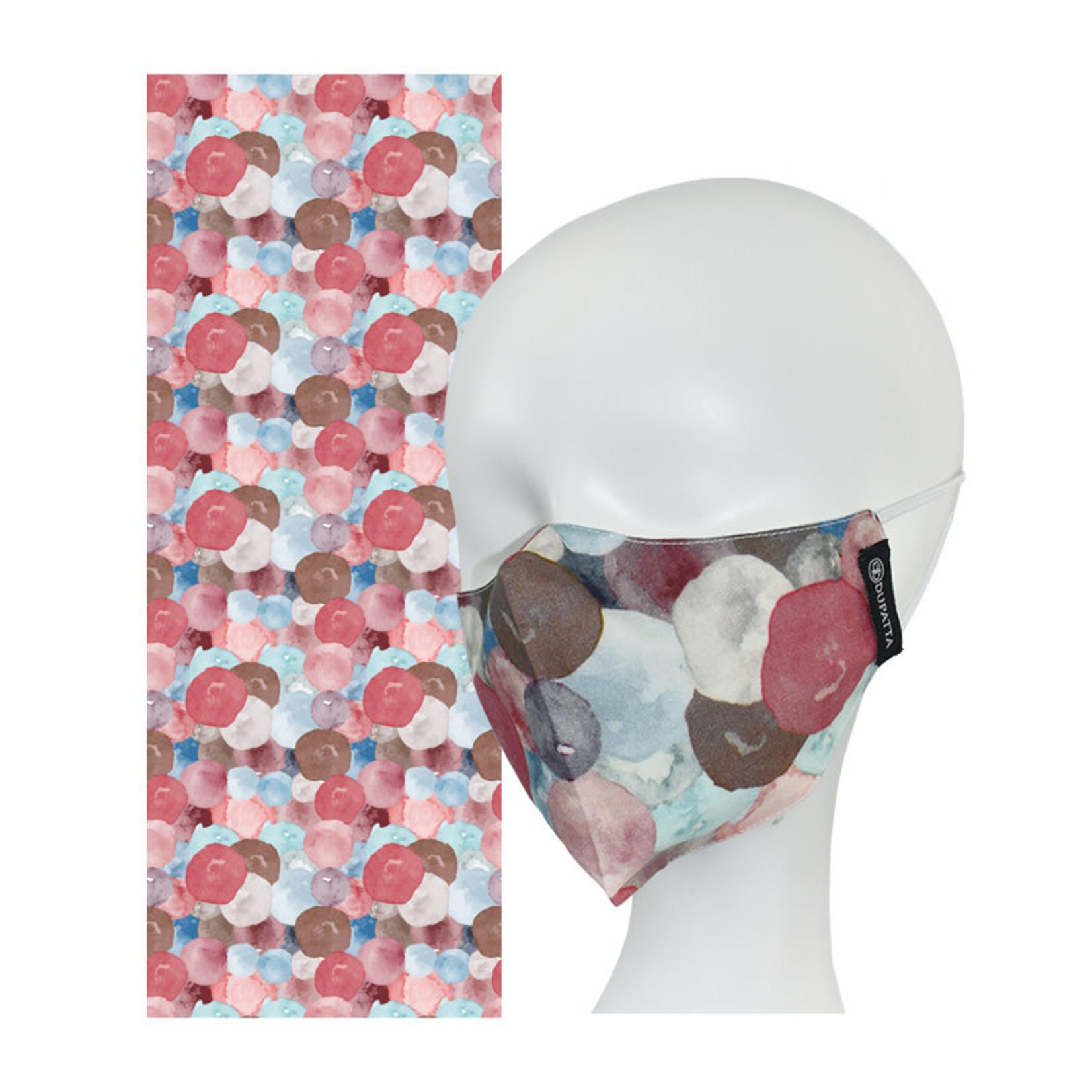 Zola Dotted Scarf & Mask Set
