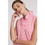Tyler Boe Constance Light Pink Jacquard Dress w/ Ruffle Collar