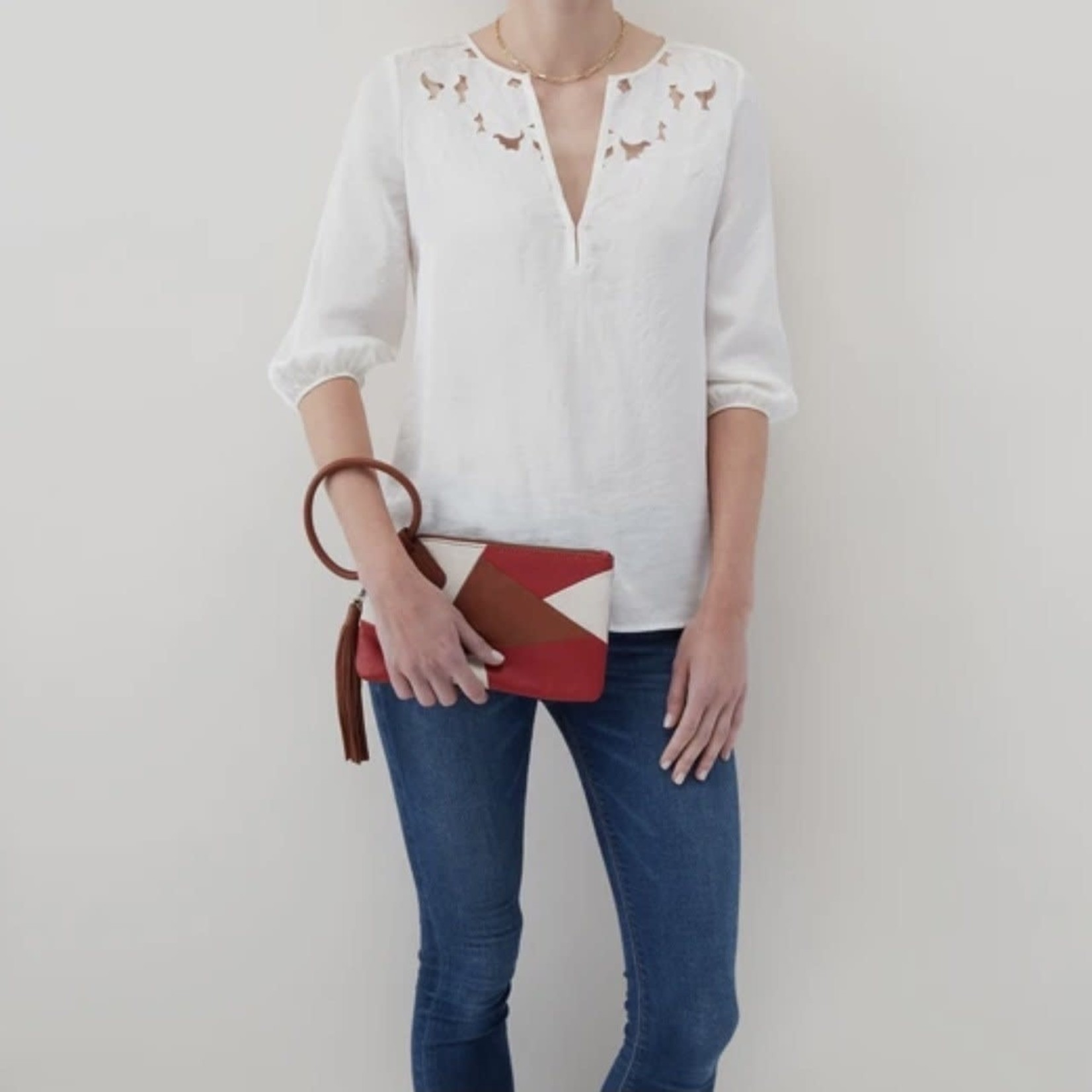 HOBO Sable Color Block Leather Wristlet w/Loop