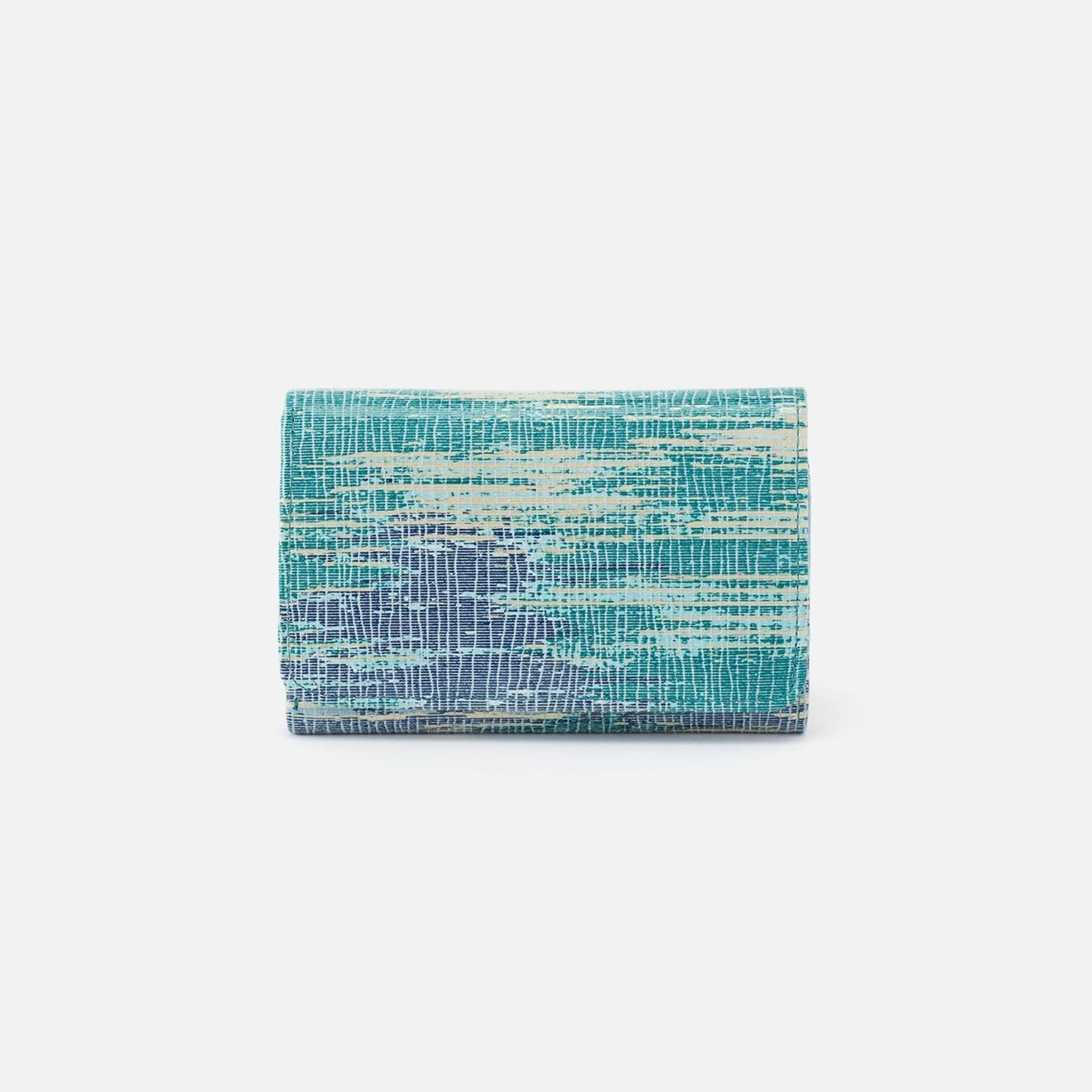 HOBO Jill Small Soft Leather Trifold Wallet - Cracked Glass