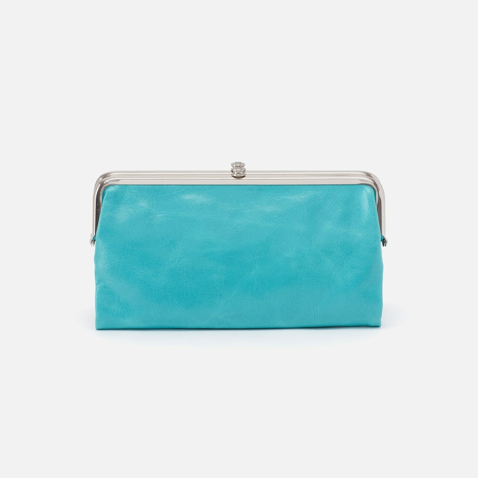 HOBO Lauren Aqua Soft Hide Leather Wallet