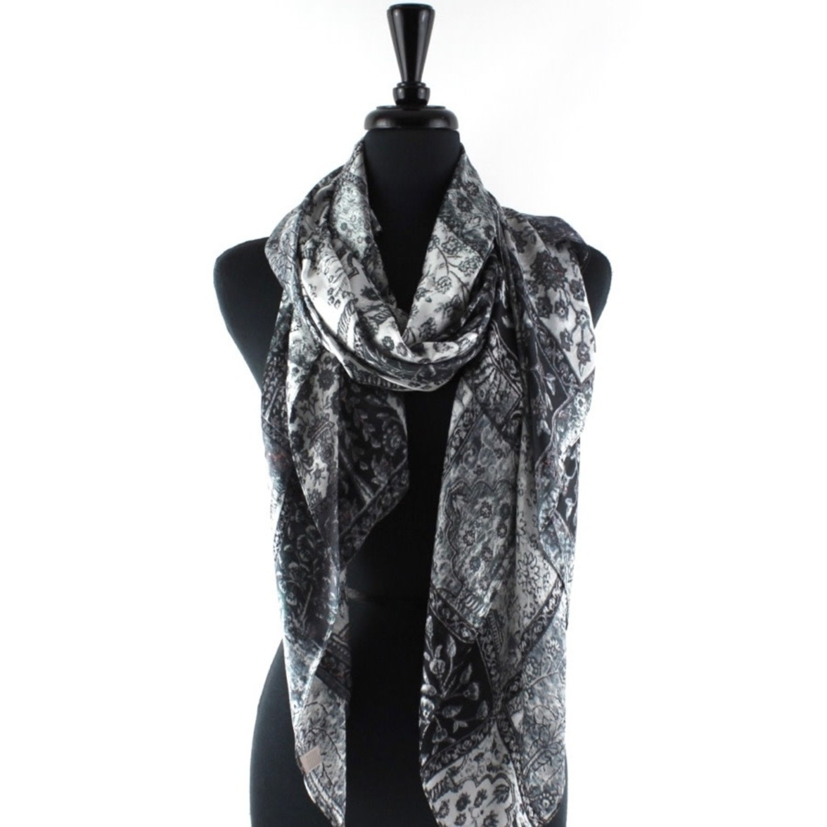 Tapestry Black Scarf