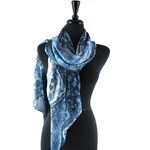Tapestry Blue Scarf