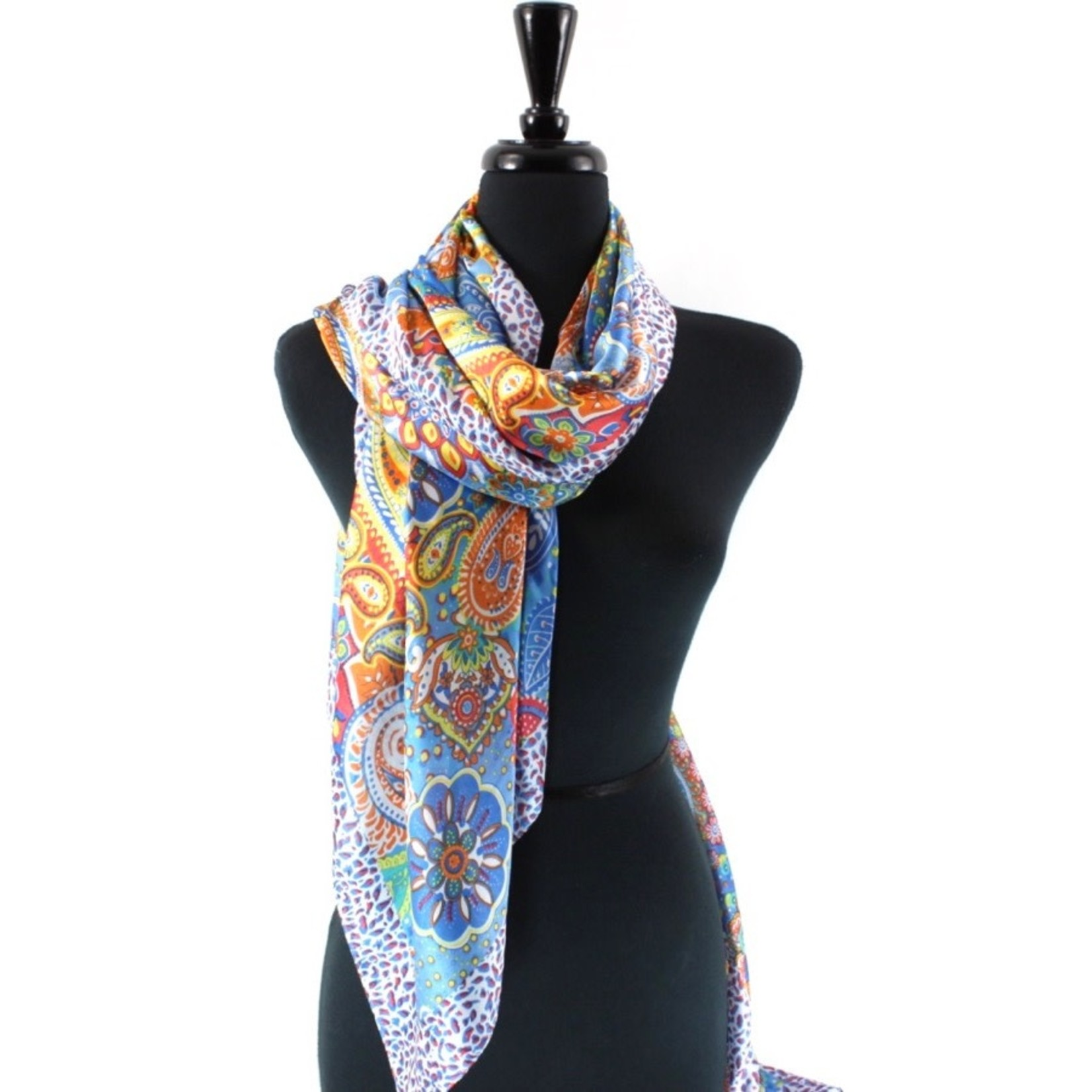 Dreamscape Retro Blue Scarf