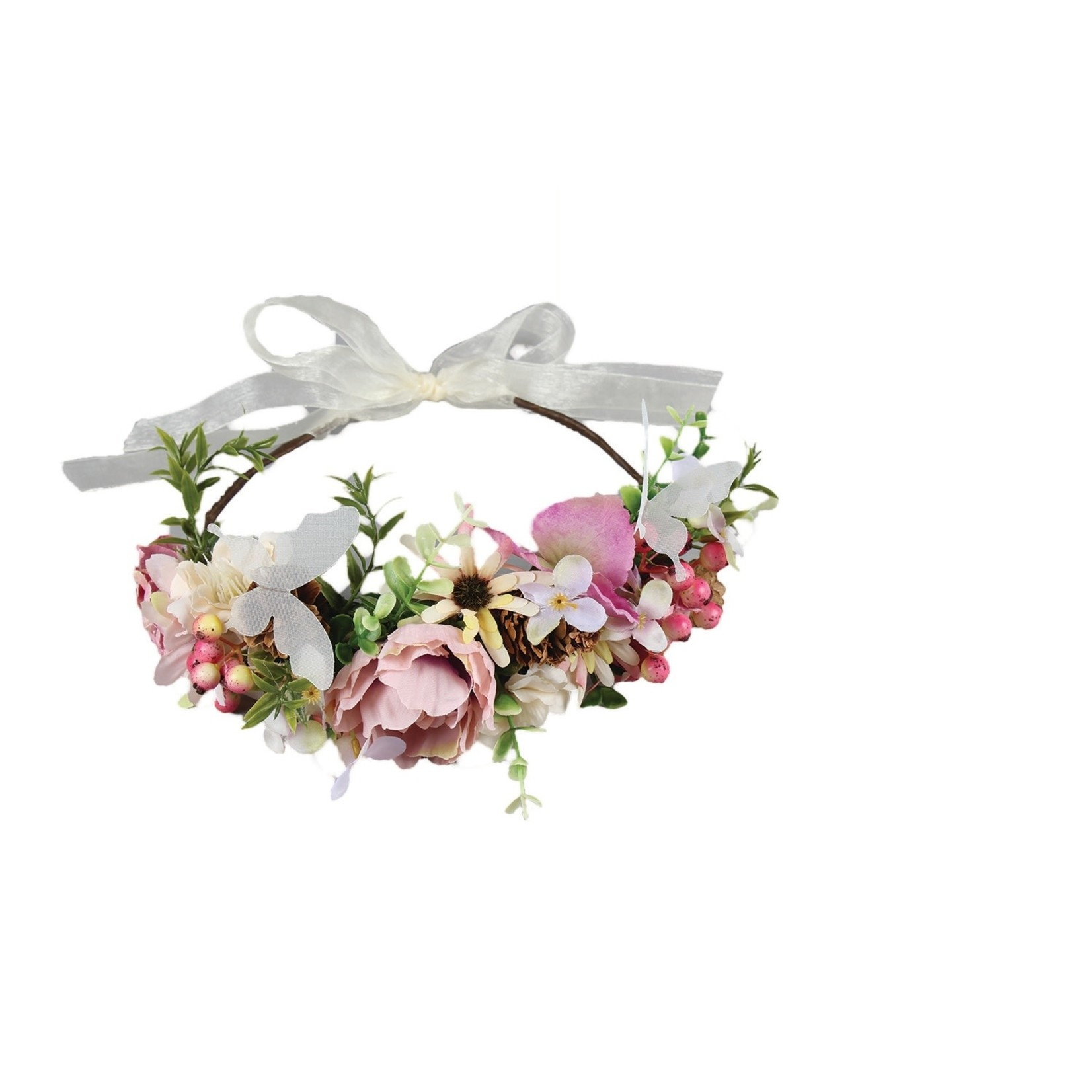 Jeanne Simmons Pink and White Vintage Floral Headband