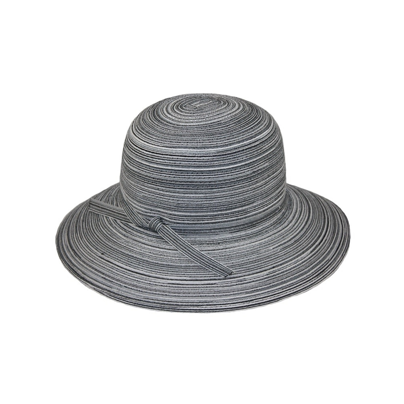 Jeanne Simmons Black and White Large Brim Bucket Hat