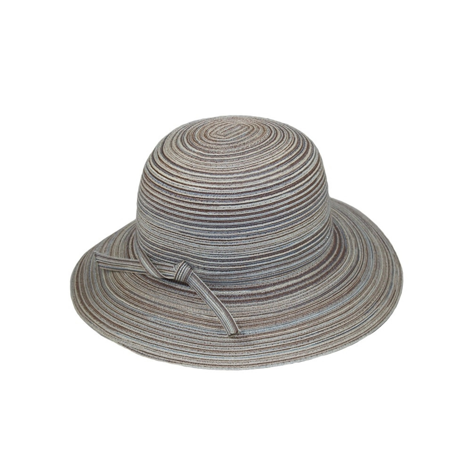 Jeanne Simmons Brown and White Large Brim Bucket Hat