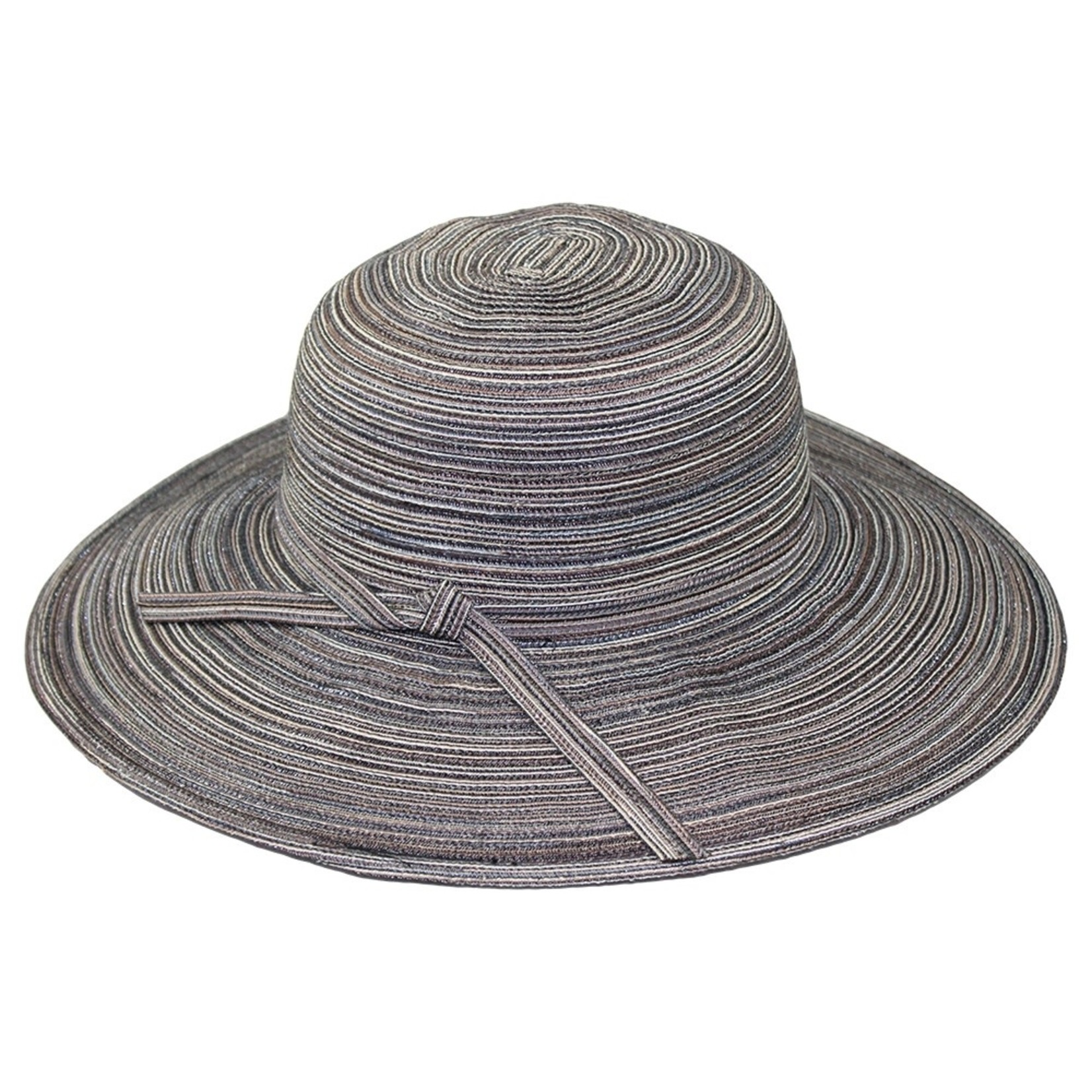 Jeanne Simmons Black Mix Flat Brim Hat