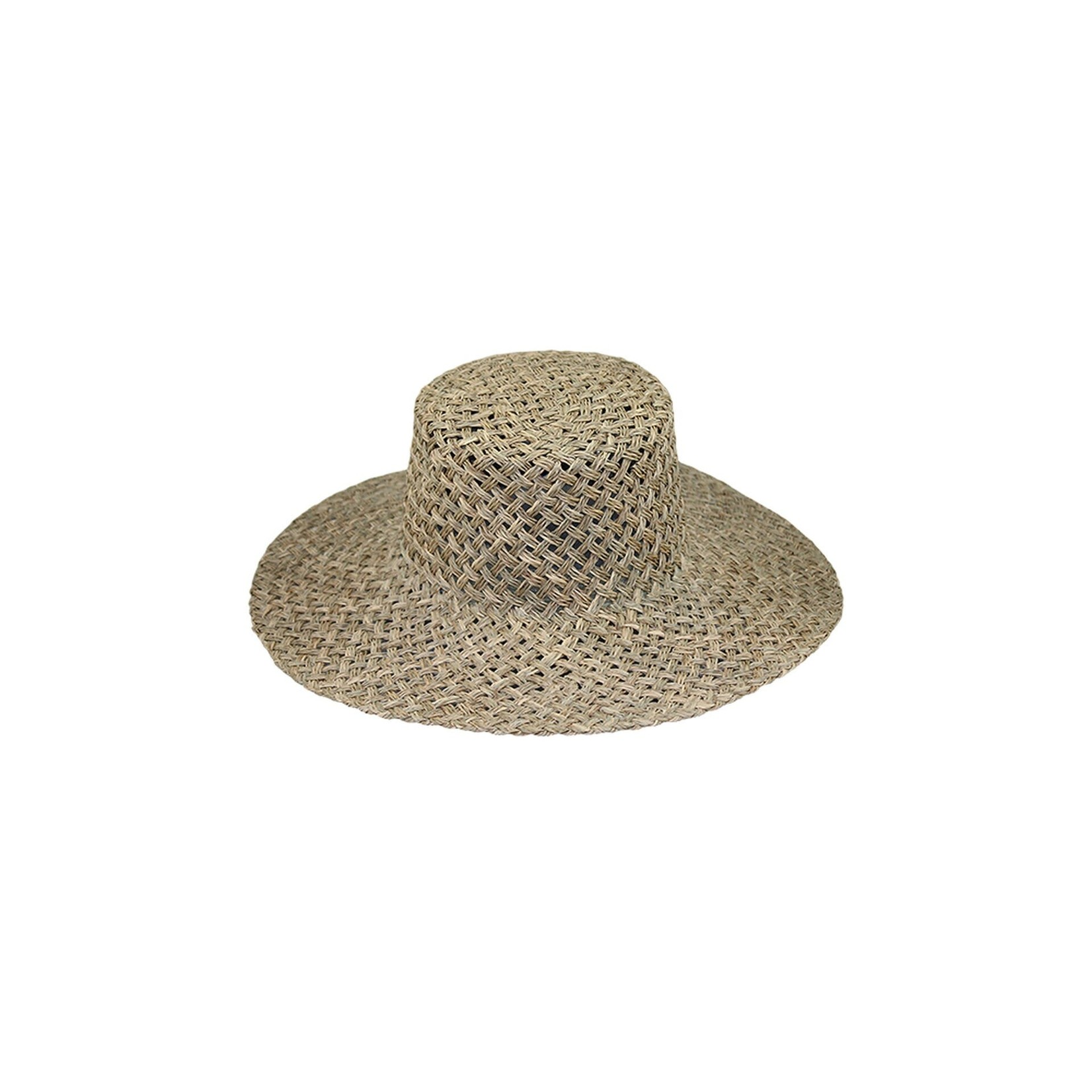 Jeanne Simmons Natural Seagrass Boater Hat