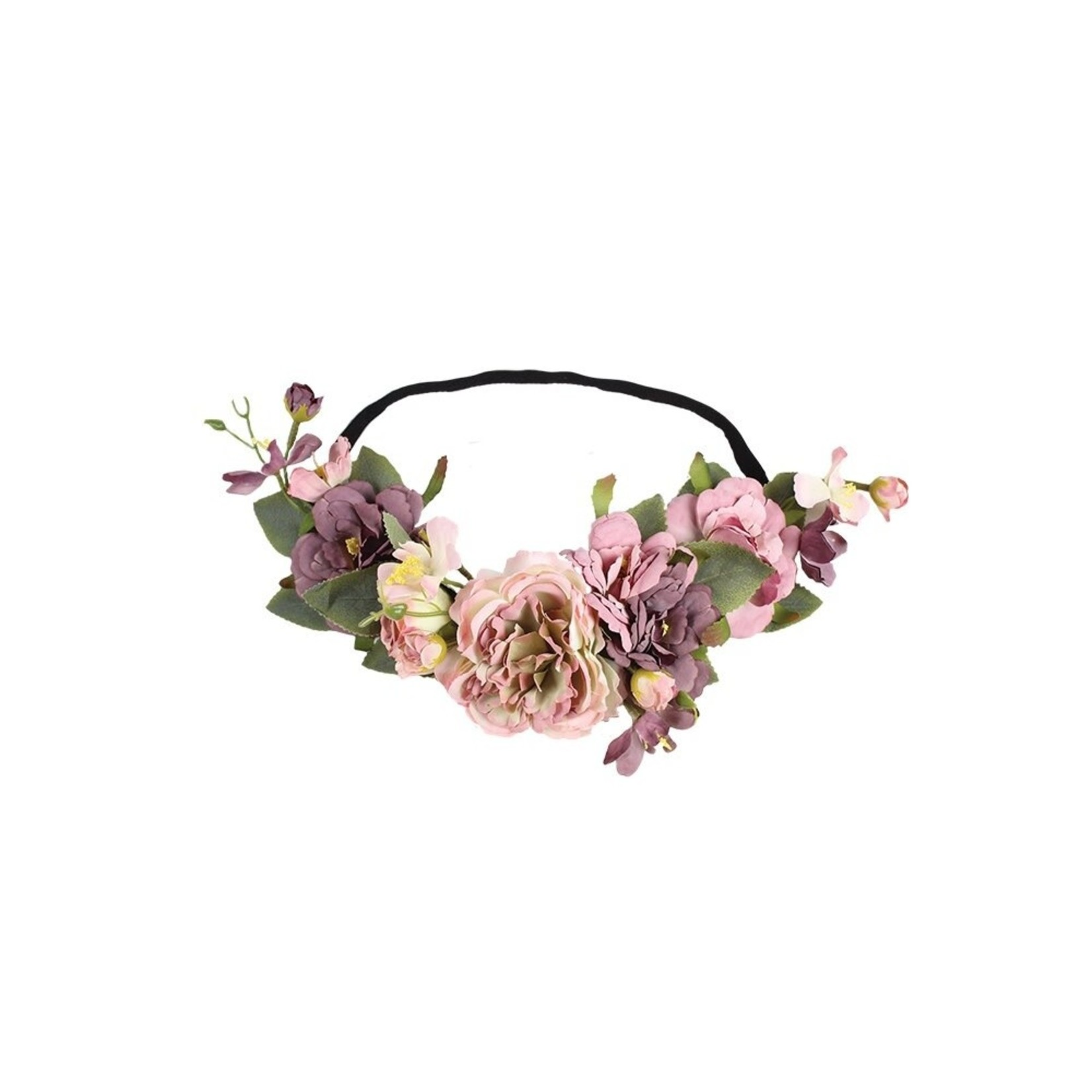 Jeanne Simmons Lavender Floral Crown Elastic Band Headband