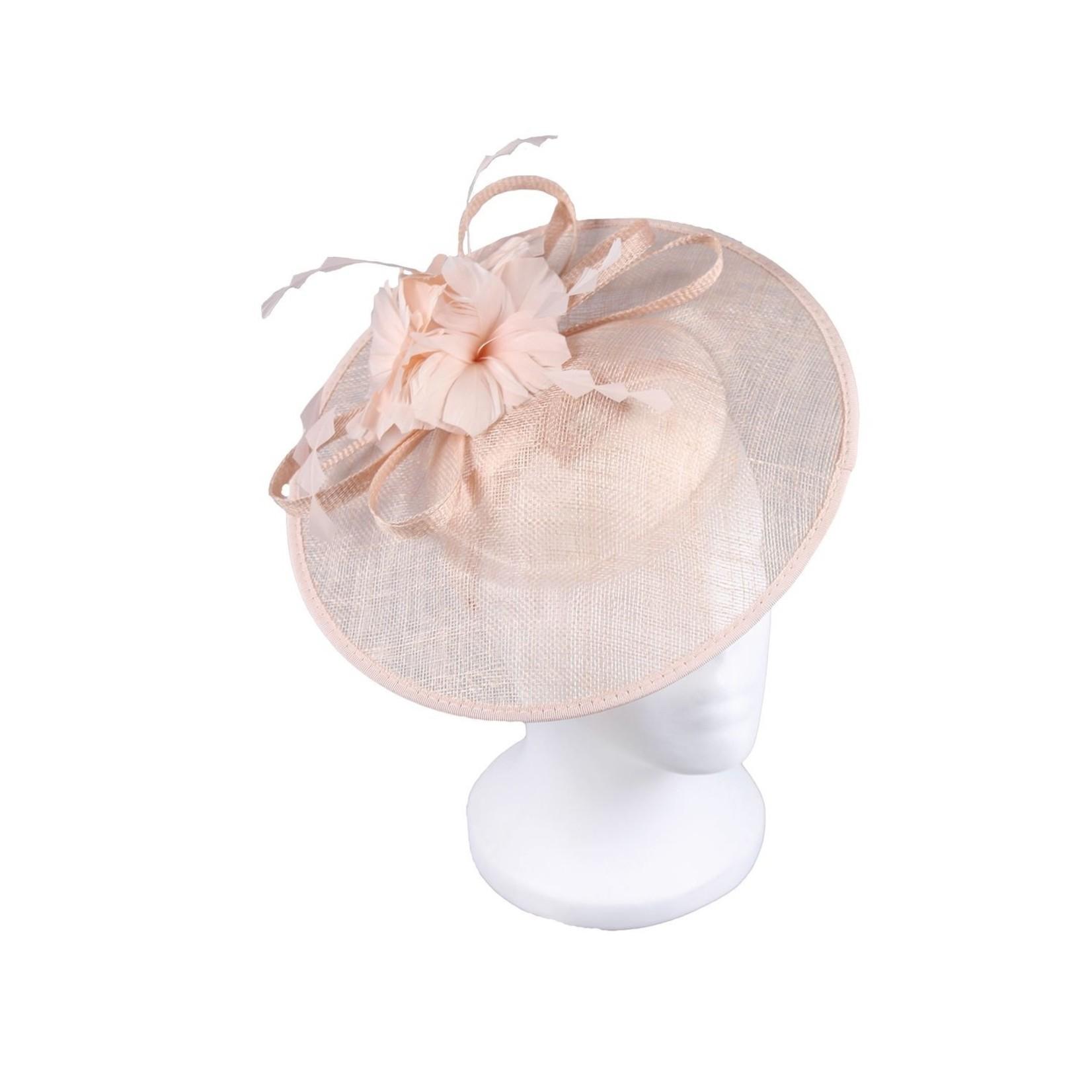 Jeanne Simmons Pink Dish Headband w/Floral Embellishment