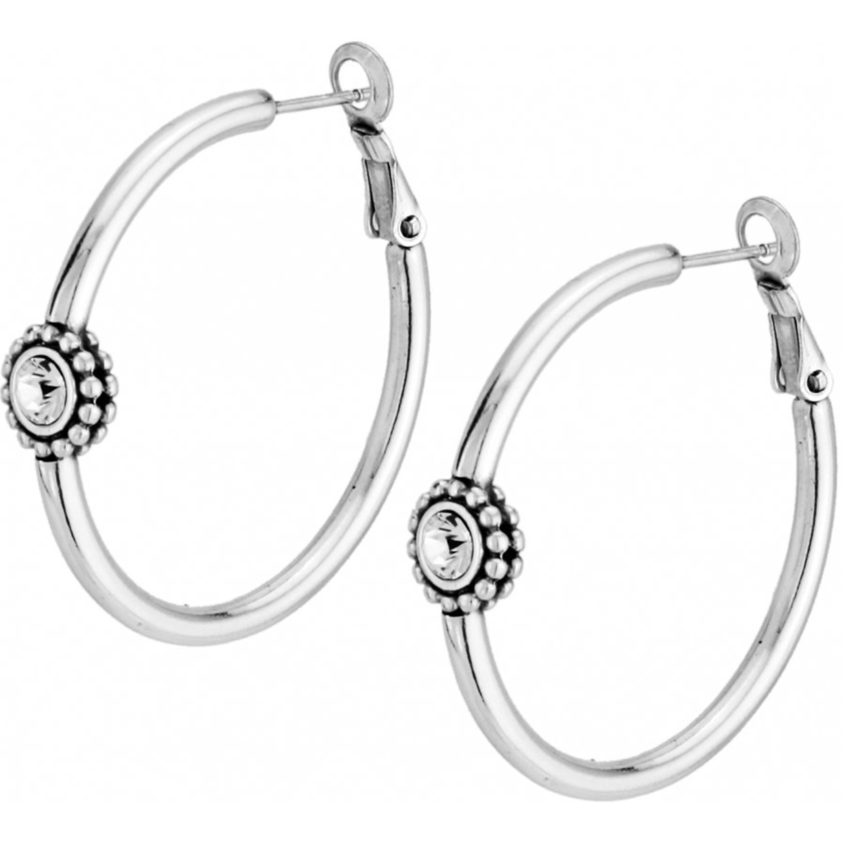 Brighton Twinkle Medium Hoop Post Earrings
