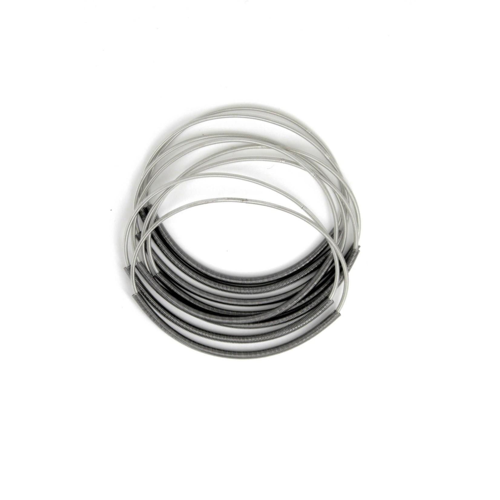 Sea Lily Silver Piano Wire Bracelet w/ Slate Sleeve