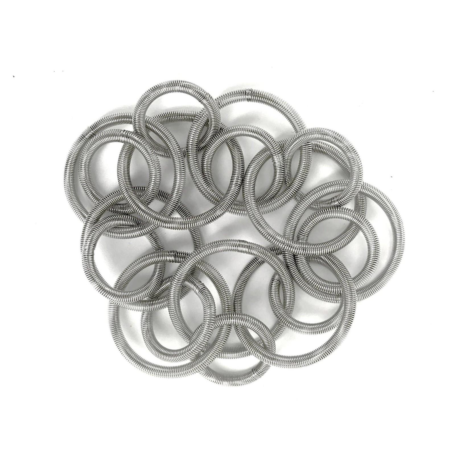Sea Lily Silver Loop Bracelet