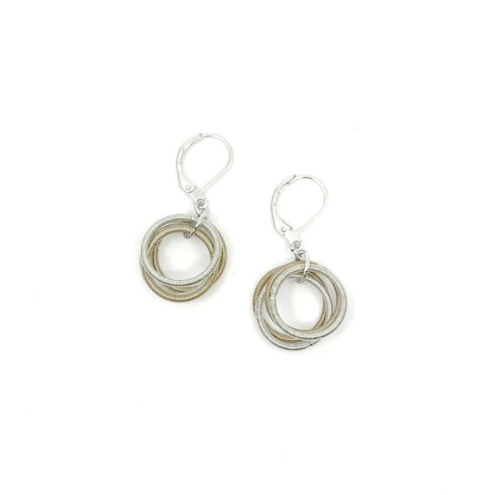 Sea Lily Champagne/Silver Piano Wire Loop Earring