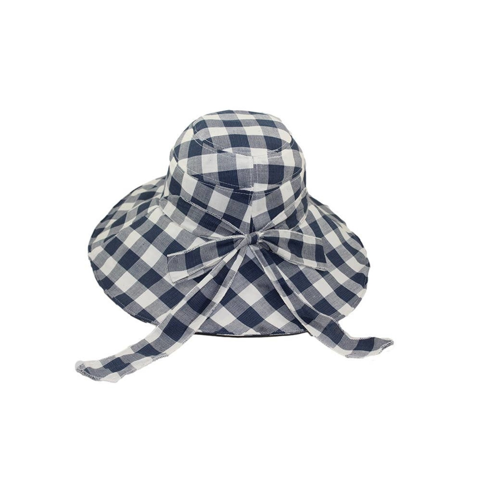 "Hat Stack 73990 Gingham 5""Brim Big Bow Blue"