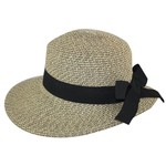 Hat Stack 72341 Black Tweed w/Thick Black Bow