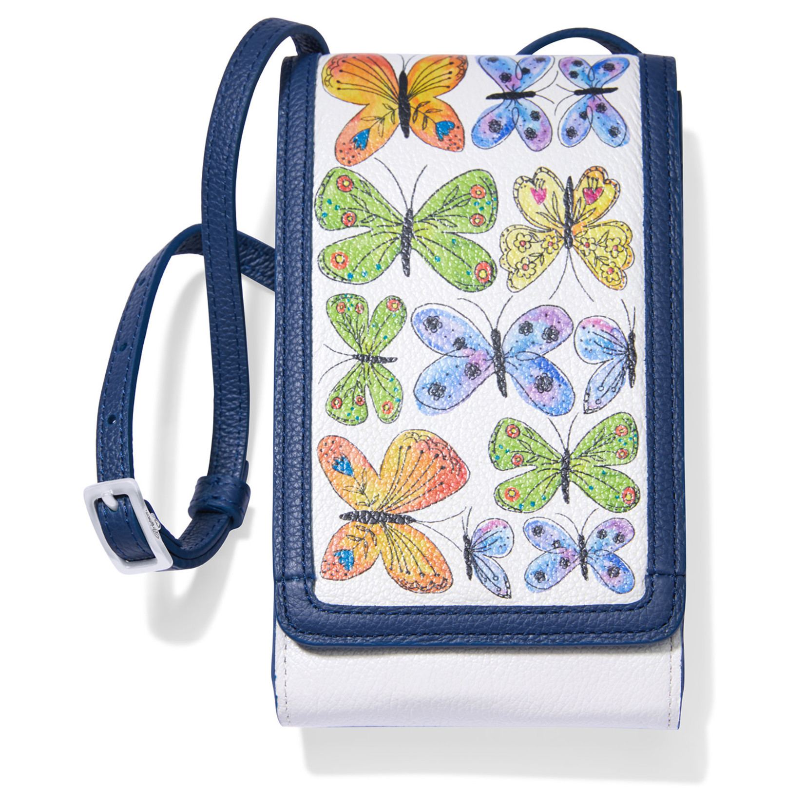 Brighton White/Multi Garden Wings Phone Organizer