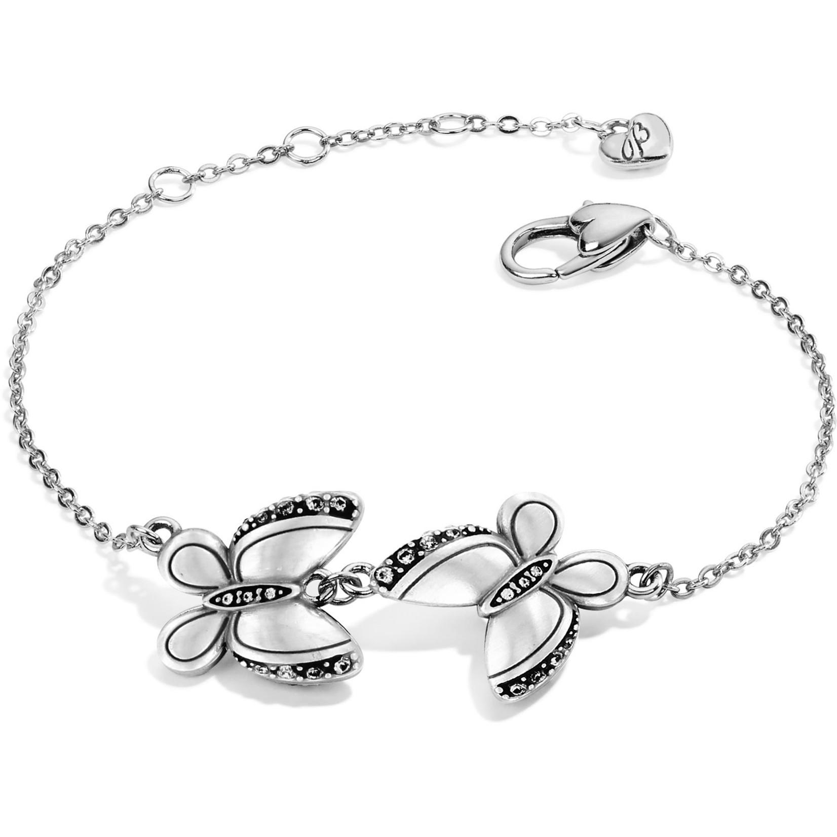 Brighton Trust Your Journey Love Butterflies Reversible Bracelet Silver-Rose-Blue