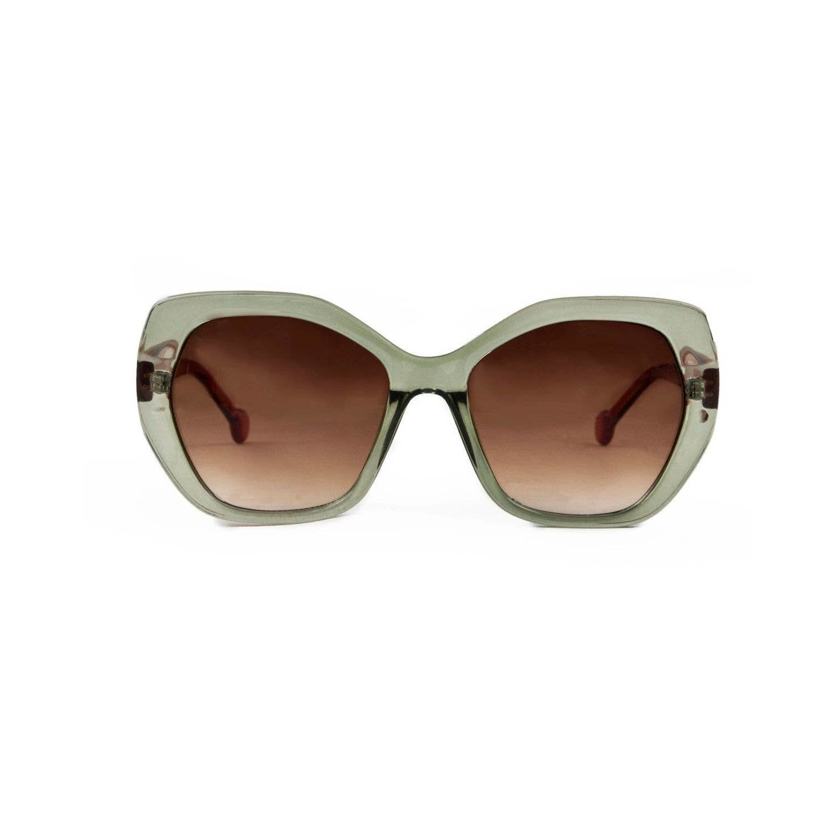 Powder Brianna Olive Sunglasses