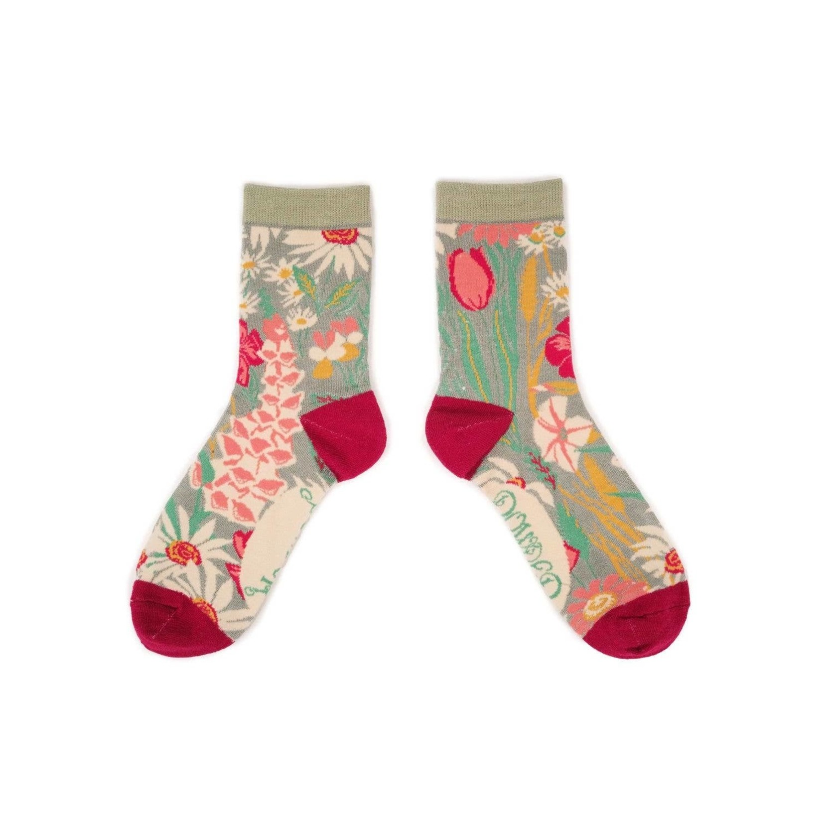 Powder Country Garden Ankle Sock in Mint