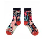Powder Country Garden Ankle Sock in Navy