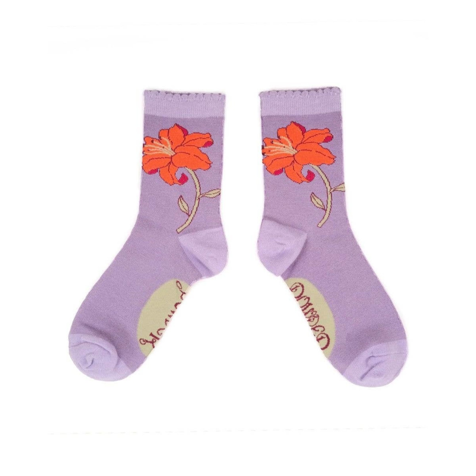 Powder Lilac Lily Ankle Sock