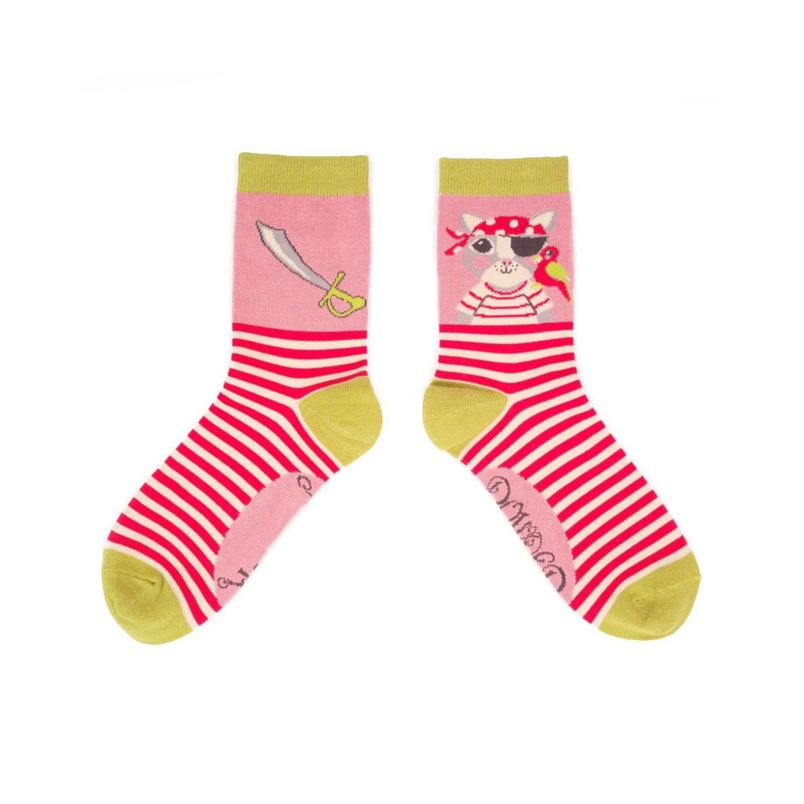 Powder Pirate Pussycat Ankle Socks