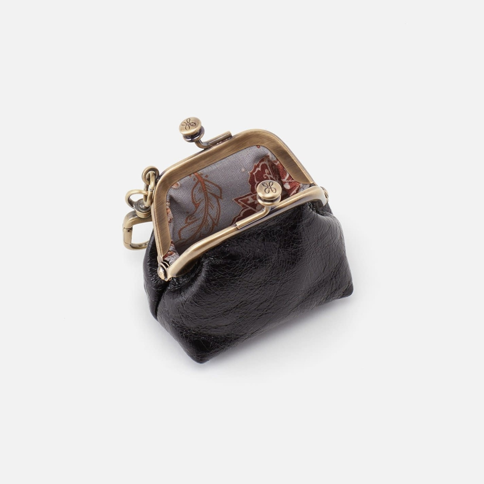 HOBO Run Black Soft Leather Frame Pouch