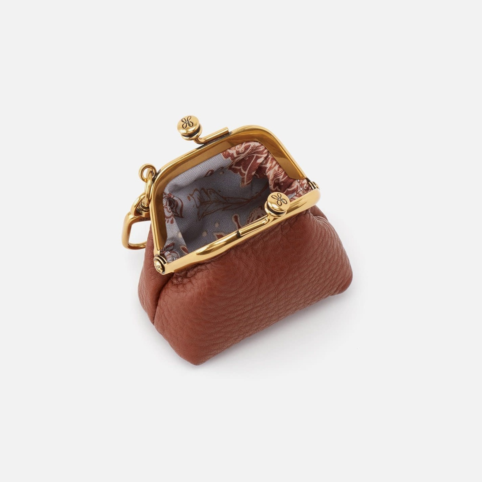 HOBO Run Toffee Soft Leather Frame Pouch