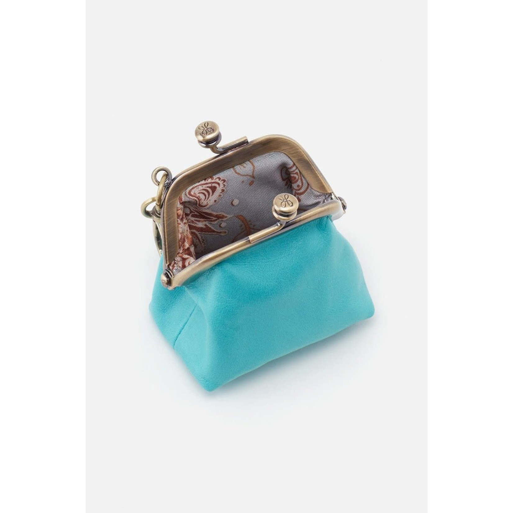 HOBO Run Aqua Vintage Leather Frame Pouch