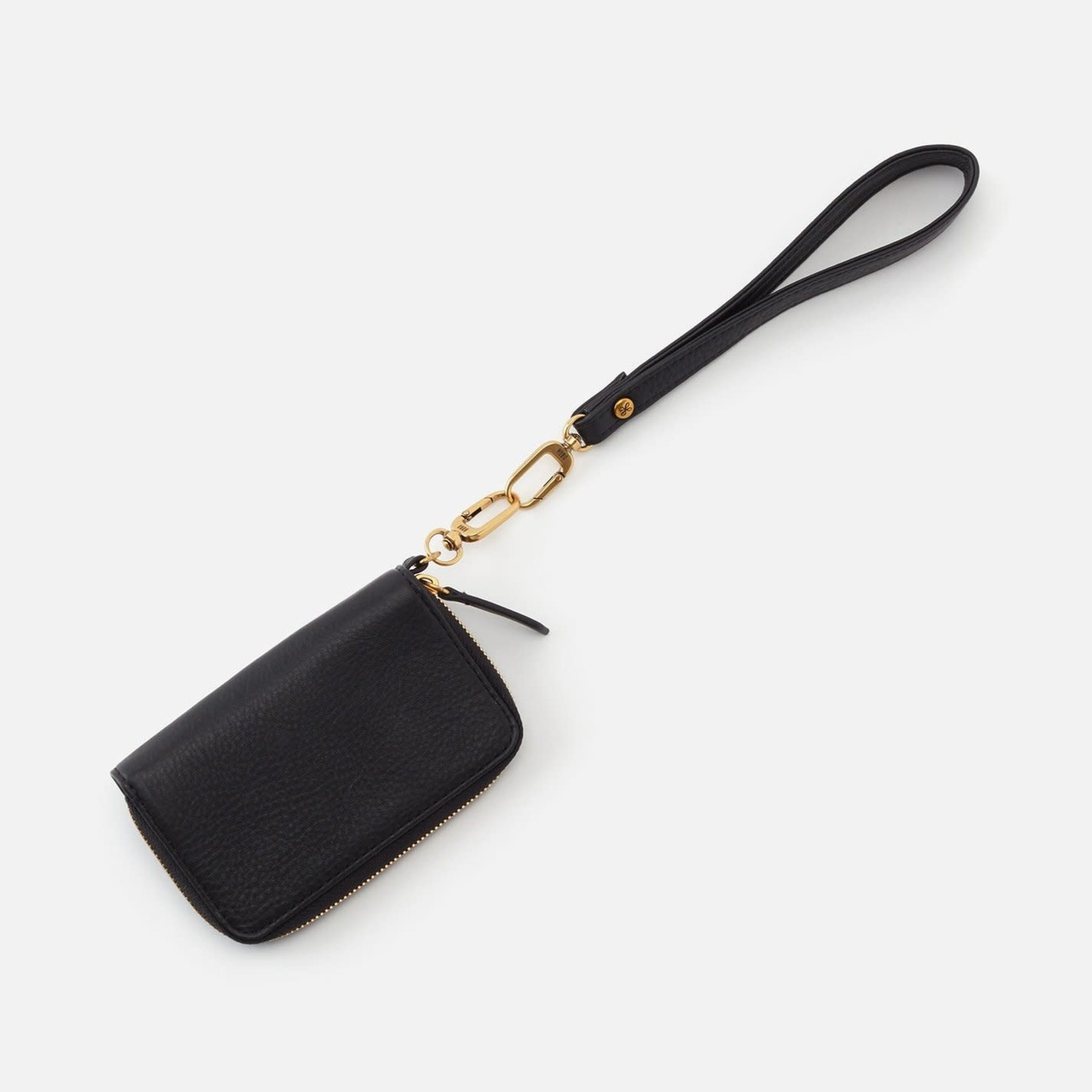 HOBO Grip Black Soft Leather Wristlet Strap