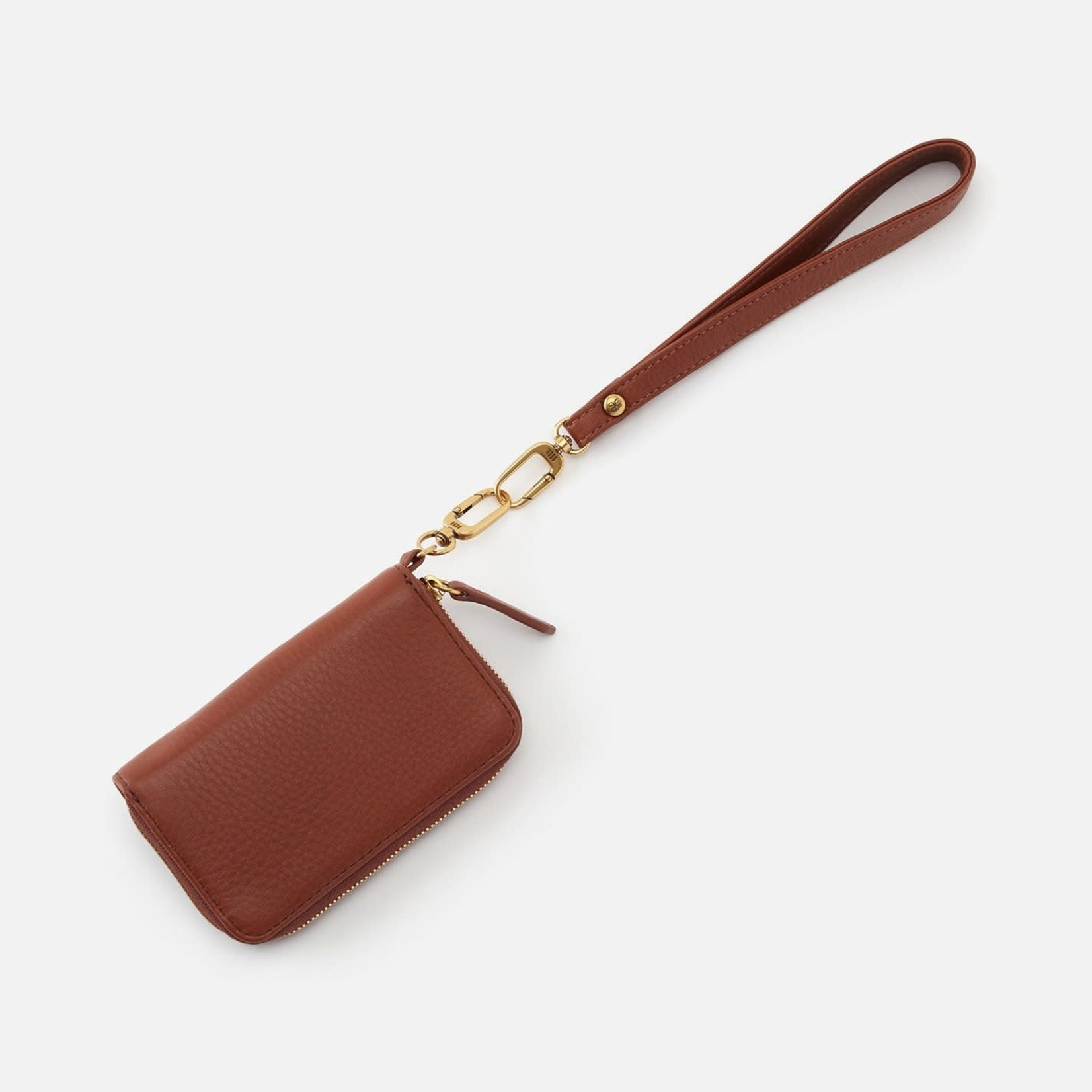 HOBO Grip Toffee Soft Leather Wristlet Strap