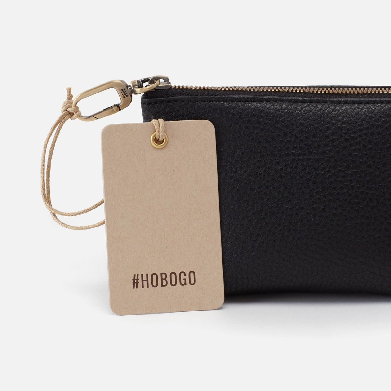 HOBO Brava Black Soft Leather Clip Pouch