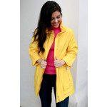 Hooded Rain Jacket In Lemon Lrg